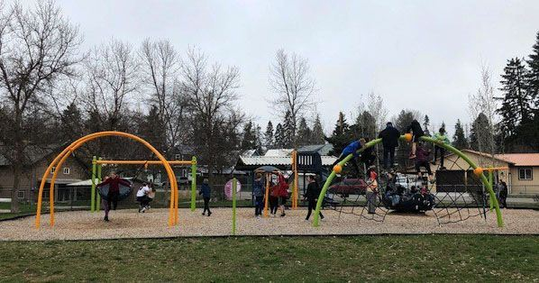 Soroptimist Park features a playground, basketball court and a gazebo.