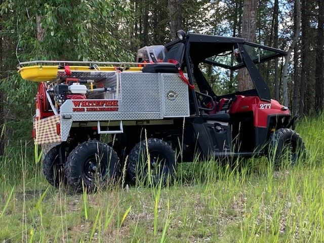 6x6, utility vehicle, red and black, off road vehicle