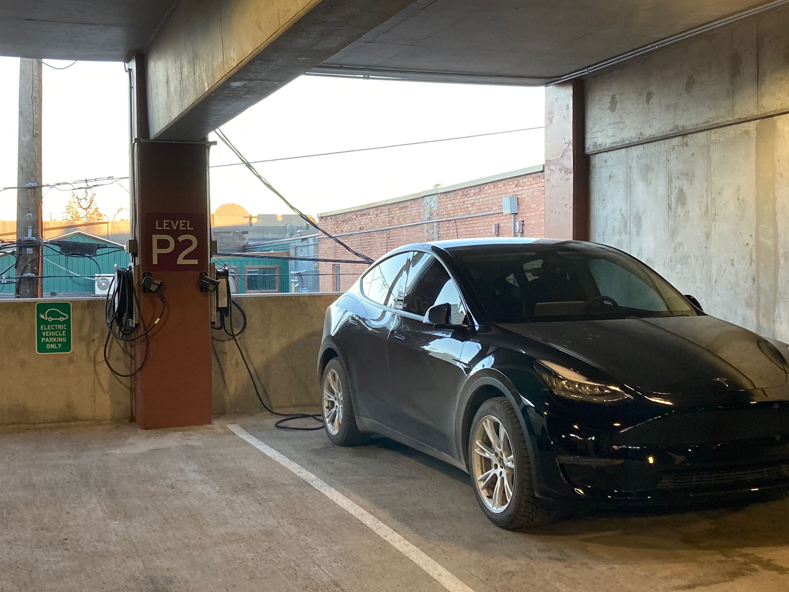 EV Charging Station In Use