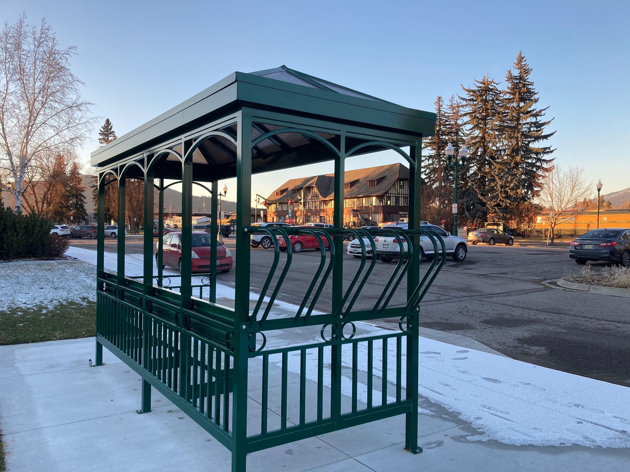 Bus Shelter at Depot Transit Hub
