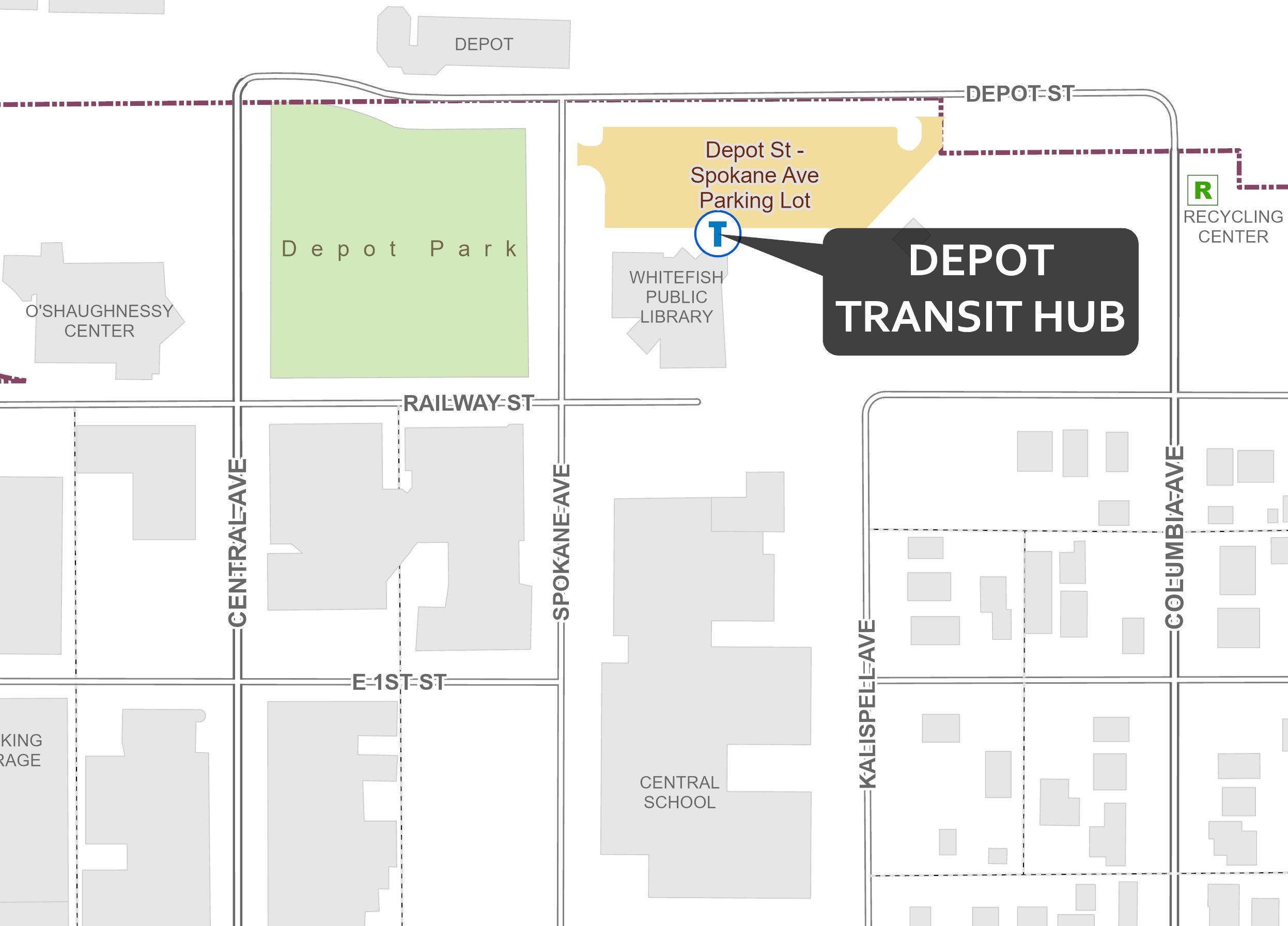 Depot Transit Hub Location Map