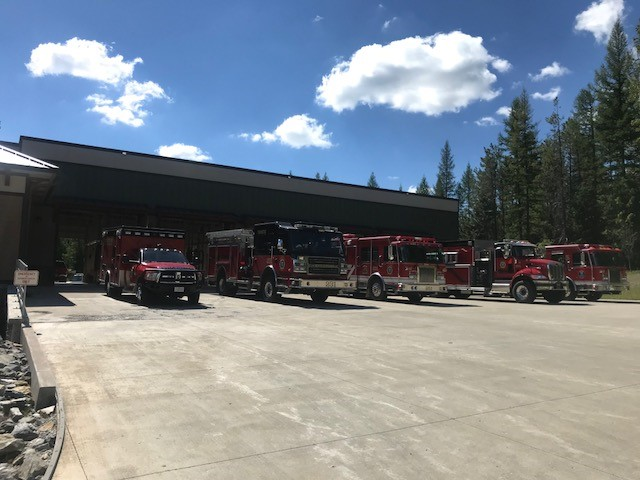 Fire Trucks Lined Up