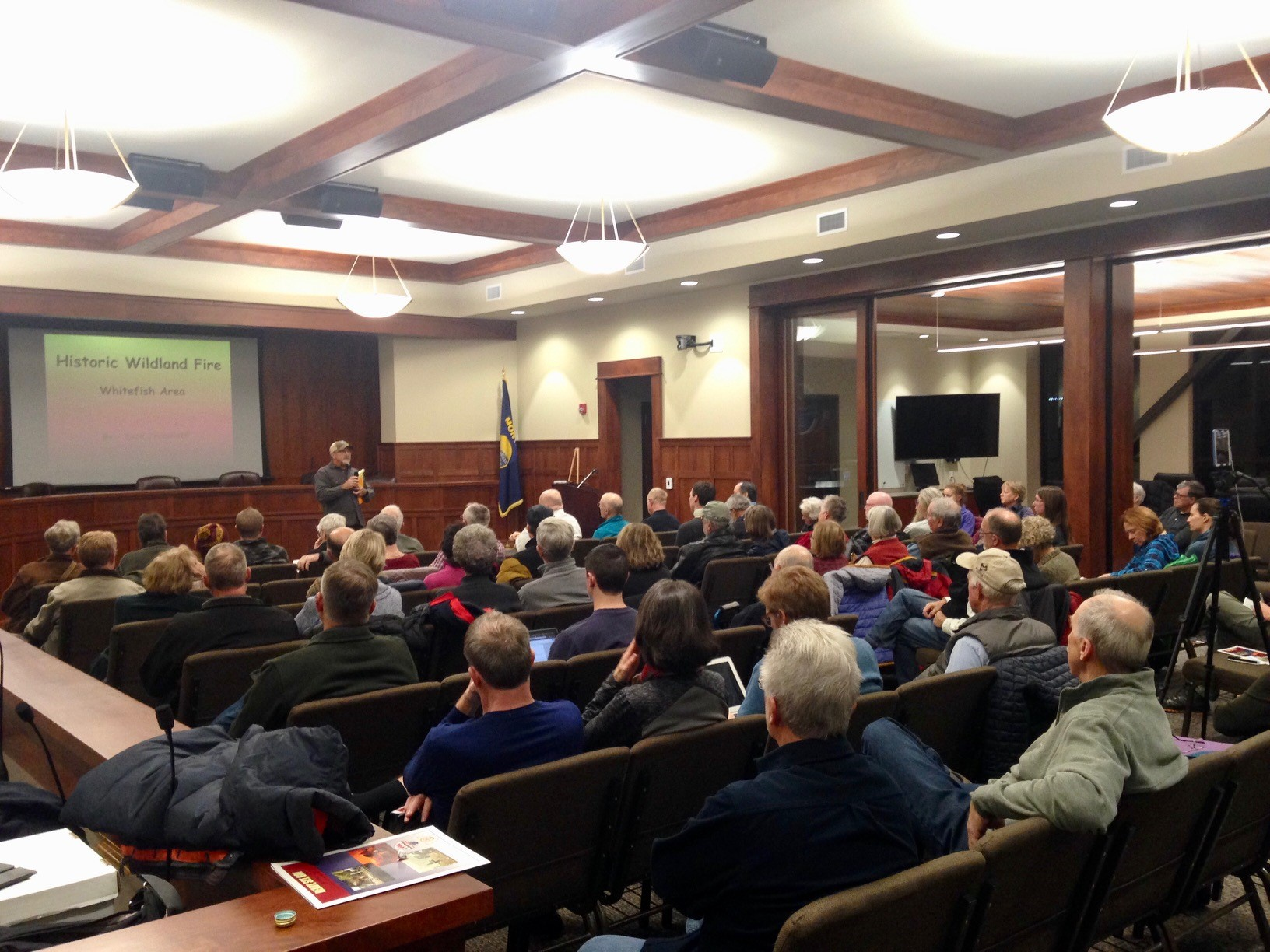Flathead Valley Residents Gathered at Whitefish City Hall to Hear from Fire Experts on the Dangers o
