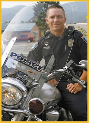 Officer Rob on a Police Motorcycle