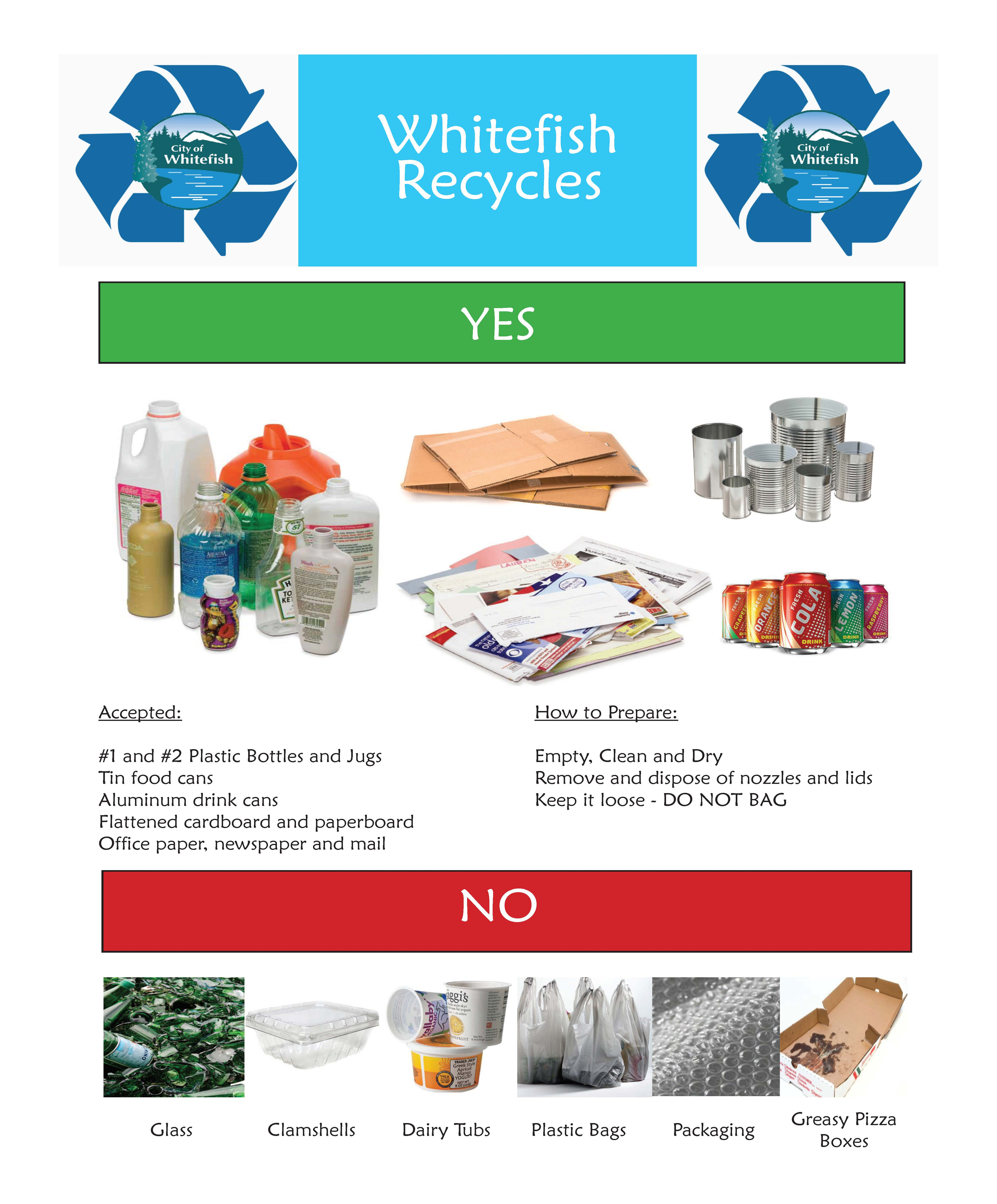 Whitefish recycling information